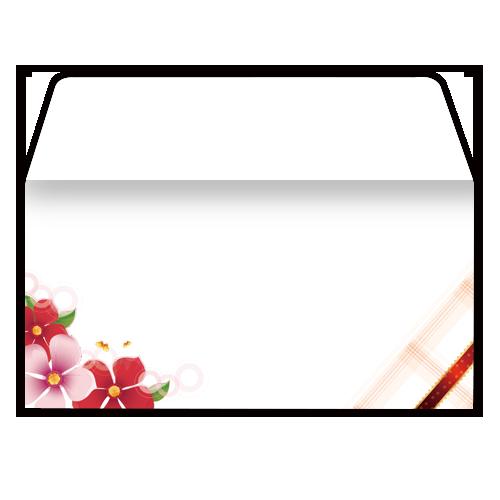 淡雅花纹信封免费设计(西式)