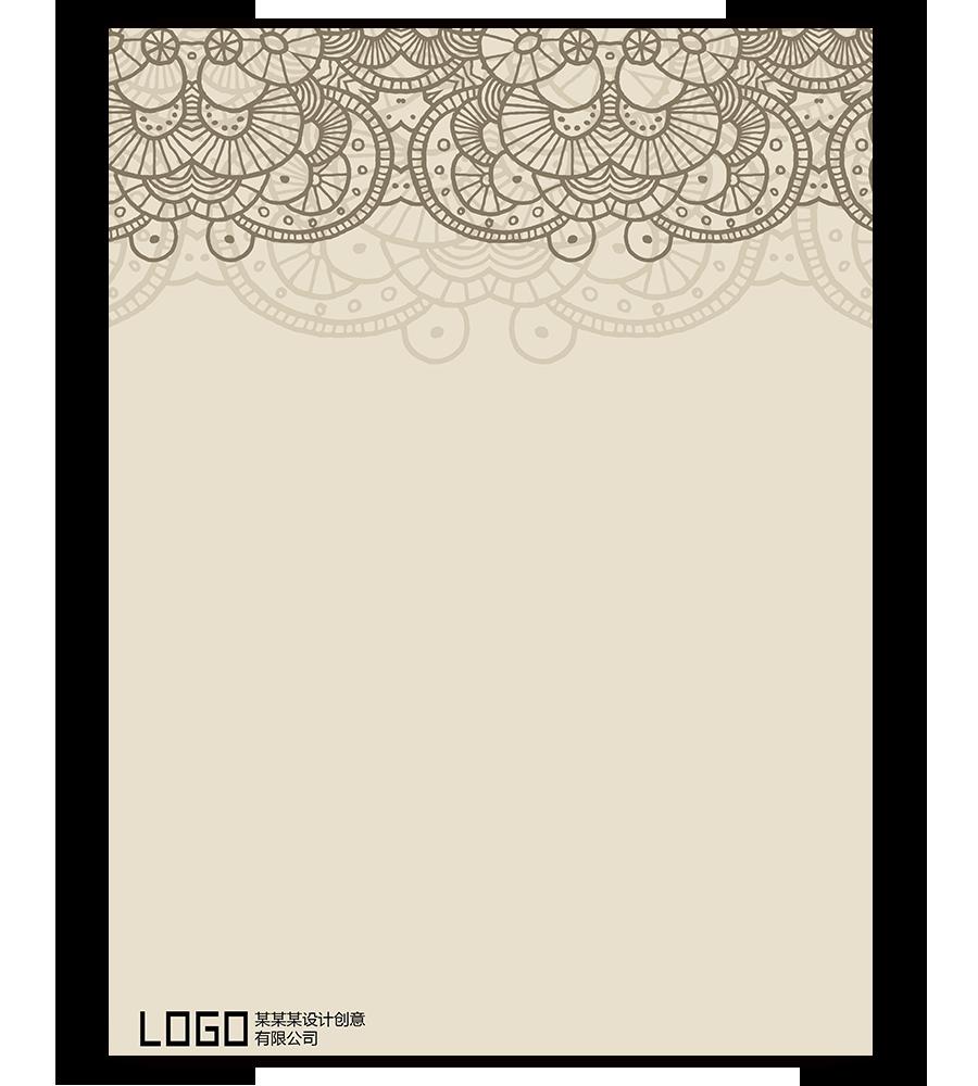 【手绘花纹个性化信签制定】办公必备免费设计制作图片