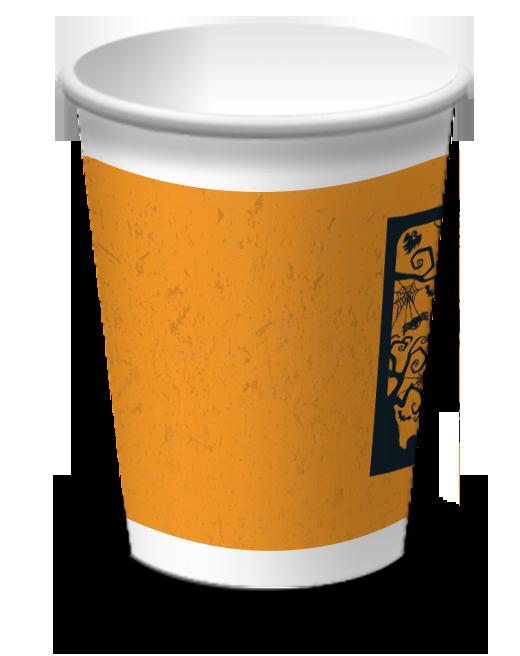 【复古黄色个性化纸杯定制】办公必备免费设计制作__.图片