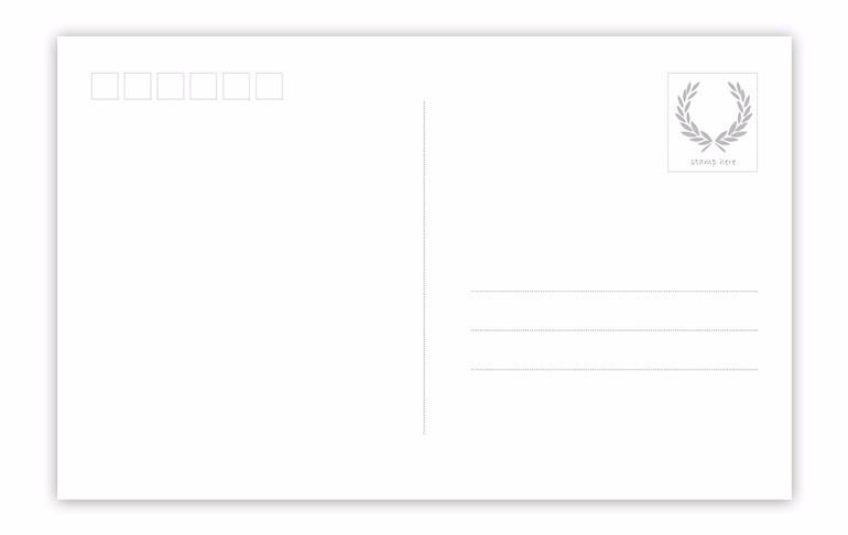 【时尚模特—横版明信片—3】_横版明信片(单张)模板图片